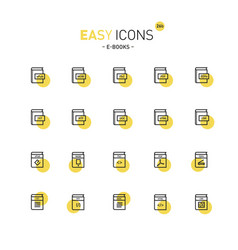 Easy icons 26d-books vector