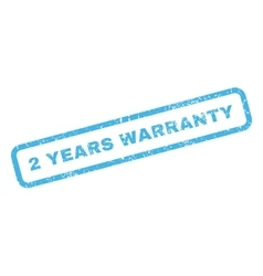 2 Years Warranty Rubber Stamp vector image vector image