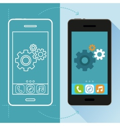 App development concept in flat style vector