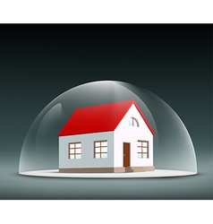 House under the dome vector