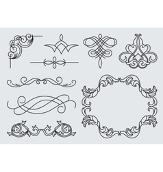Monograms menu design calligraphic vector