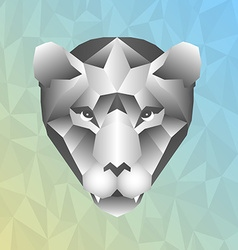 Polygonal head of tiger in vector