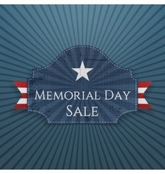 Memorial day sale festive poster and ribbon vector