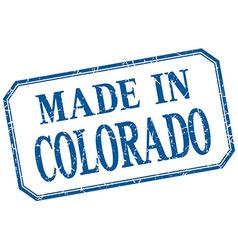 Colorado - made in blue vintage isolated label vector