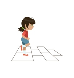 Girl Playing Hopscotch vector image