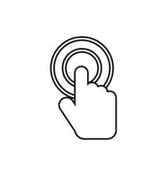 Click icon outline style vector