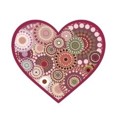 Romance vintage heart greeting card vector