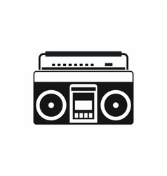 Recorder icon simple style vector