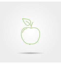 Apple line icon vector image