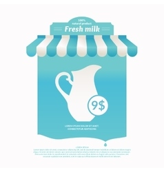 Background for advertising milk vector