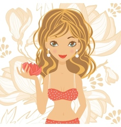 Beautiful girl in lingerie vector image vector image