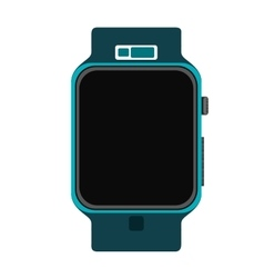 blue wristwatch vector image