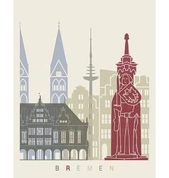 Bremen skyline poster vector image vector image