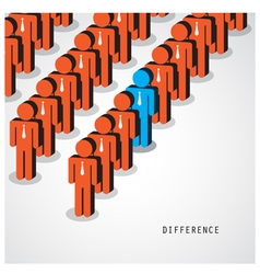 Businessman standing out from the crowd vector image