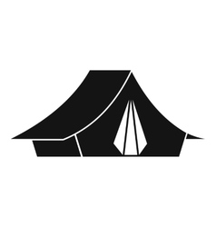 Camping tent icon simple style vector