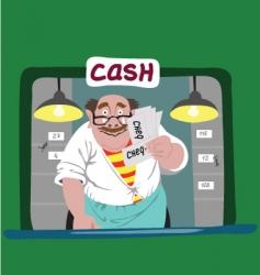 Cashier vector