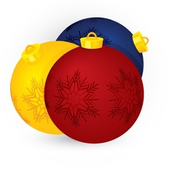 Christmas three balls vector image