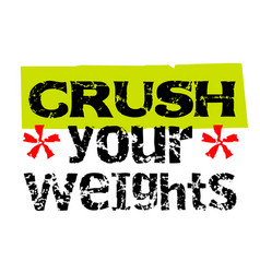Crush your weights vector