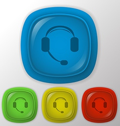 customer support headphone vector image