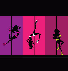 Exotic pole dance vector