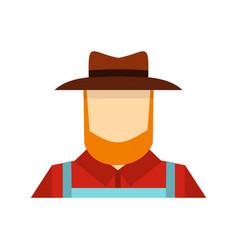 Farmer icon flat style vector