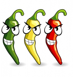 funny Mexican hot chili peppers vector image vector image