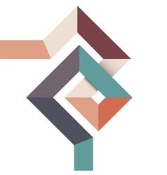 Geometric abstract minimal design vector image vector image