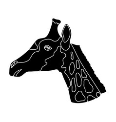 giraffe icon in black style isolated on white vector image vector image