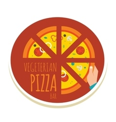 Handmade pizza pizza icon for a vector