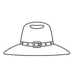 hat icon outline style vector image vector image