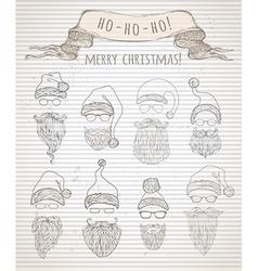 Ho ho ho merry christmas vector