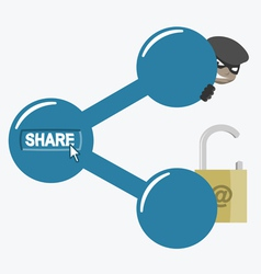 Internet sharing and risks vector image
