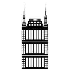 isolated tall building graphic vector image vector image