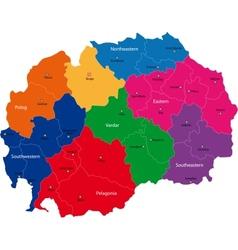 Macedonia map vector image