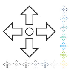 Maximize arrows icon vector