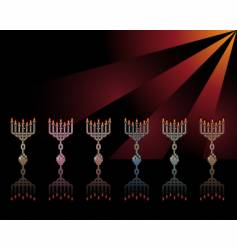 menorahs vector image