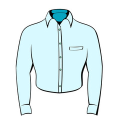 Mens shirt icon cartoon vector