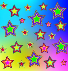 Multi-colored stars vector image vector image