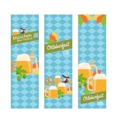 Oktoberfest 2016 vertical banners vector