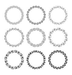Round laurel wreaths vector image vector image