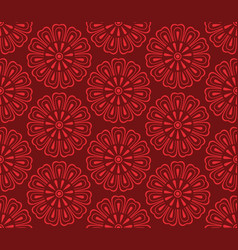 seamless korean pattern vector image vector image