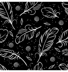 Seamless pattern of abstract feathers vector image