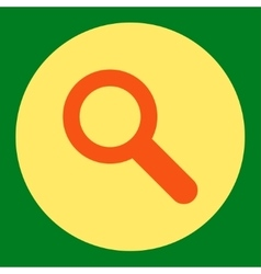 Search flat orange and yellow colors round button vector image
