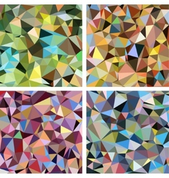 Set of Colorful Triangle Abstract Backgrounds vector image vector image