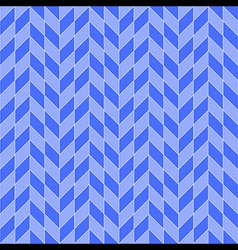 Square Rhombohedron Seamless Pattern Blue vector image