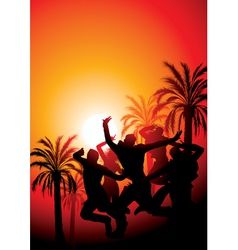 sunset party vector image