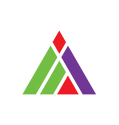 Triangle construction abstract shape logo vector