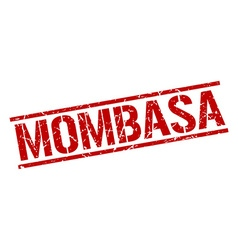 Mombasa red square stamp vector