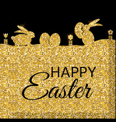 Happy easter spring holiday background vector