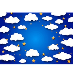 Sky background with a blank space vector